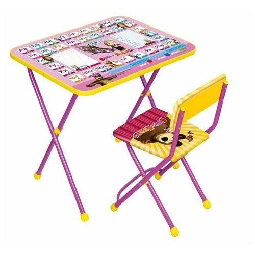 Комплект детской складной мебели Ника КП2/3 Маша и медведь 3-7 лет, мягкое сиденье