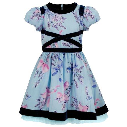 Платье Stefania Pinyagina размер 104, голубой