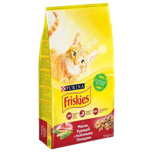Сухой корм для кошек Friskies с курицей, с мясом, с овощами 10 кг