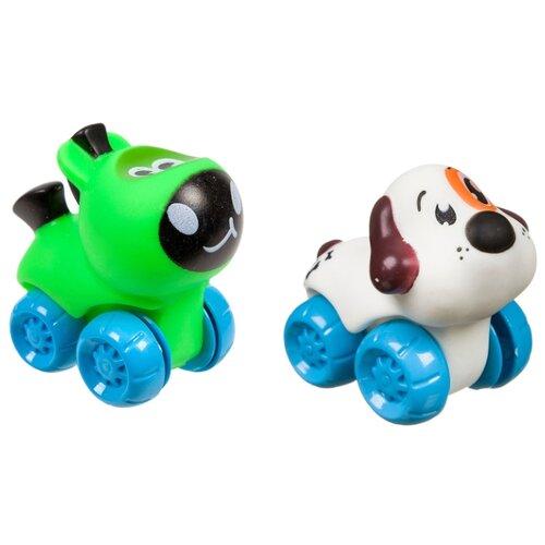 развивающая игрушка bondibon автомобиль корабль разноцветный Развивающая игрушка BONDIBON Baby You Пони и собачка ВВ3421 зеленый/белый/голубой