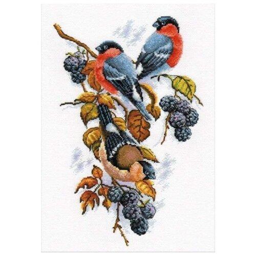 Купить Овен Набор для вышивания Снегири на ежевике 22 х 33 см (901), Наборы для вышивания