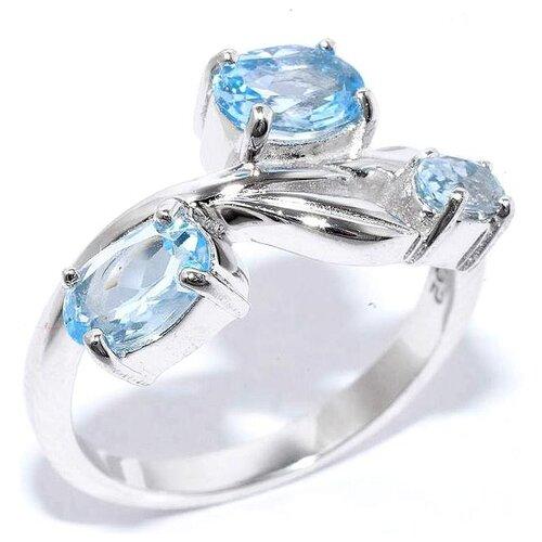 Silver WINGS Кольцо с топазами из серебра 210134-r-tb-06, размер 17 silver wings кольцо с топазами из серебра 210047 32 54 размер 17