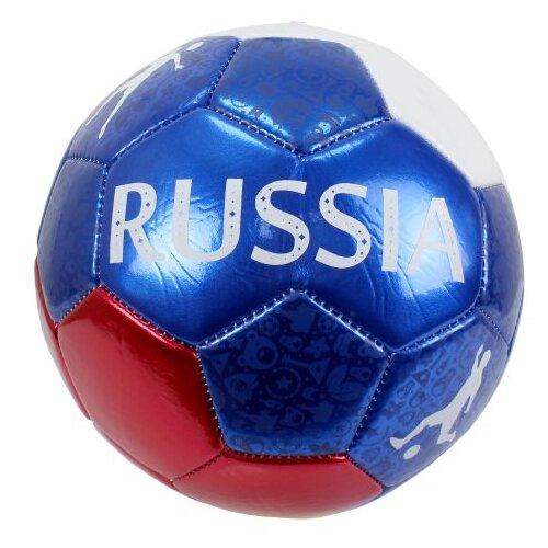 Футбольный мяч 1 TOY Foam.Россия белый/синий/красный 5