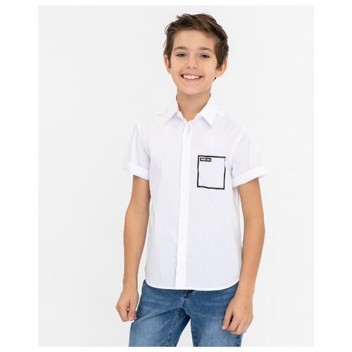 Купить Рубашка Gulliver размер 170, белый, Рубашки