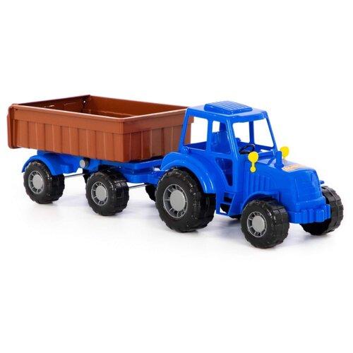 Фото - Трактор Полесье Алтай с прицепом № 1 (84750) 58 см синий трактор полесье алтай с прицепом 2 и ковшом 35363 66 см