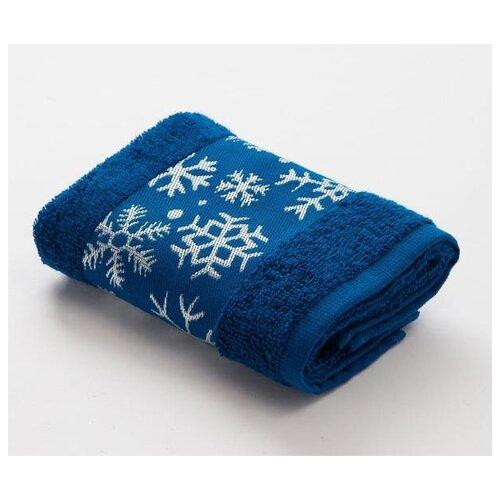 LoveLife полотенце Снежинки для рук 30х60 см синий