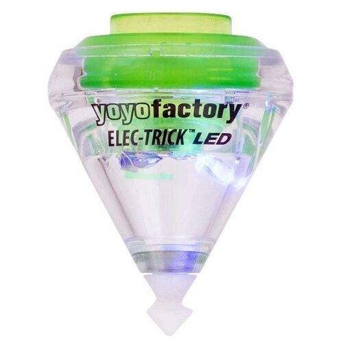 Игрушка-антистресс YoYo Factory Elec-Trick LED прозрачный/салатовый