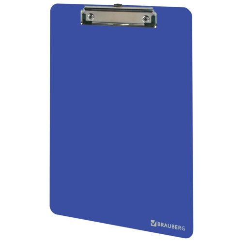 BRAUBERG Доска-планшет Solid А4 с верхним прижимом синий планшет а4 синий