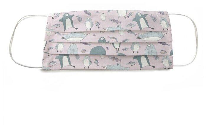Маска защитная Marengo Textile Пингвины однослойная многоразовая (1 шт.)