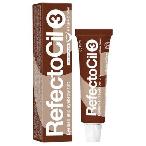 RefectoCil Краска для ресниц и бровей 15 мл 3, natural brown недорого