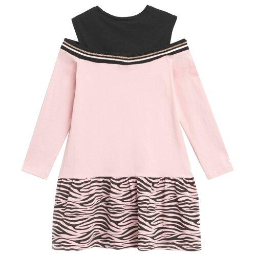 Платье COCCODRILLO BIG CATS размер 128, розовый