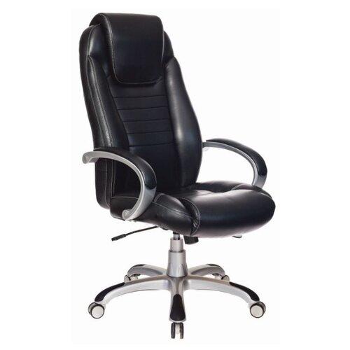 Компьютерное кресло Бюрократ T-9923 для руководителя, обивка: искусственная кожа, цвет: черный кресло руководителя бюрократ t 9910n black черный искусственная кожа пластик серебро