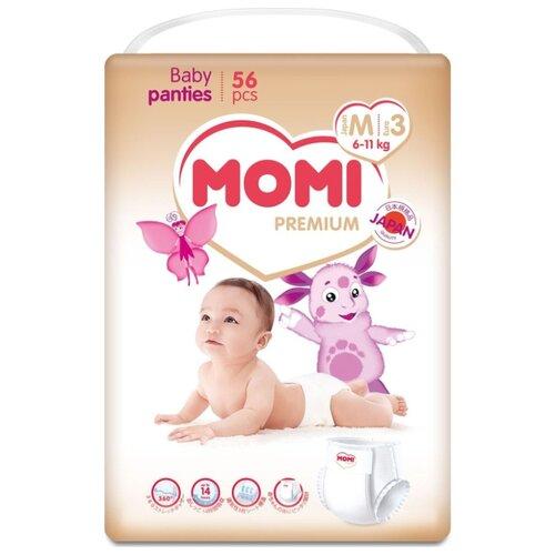 Momi трусики Premium M (6-11 кг) 56 шт. momi трусики m 6 10 кг 44 шт