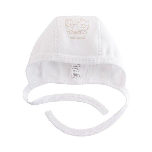 Купить Чепчик Наша мама размер 42-44(74), белый, Головные уборы