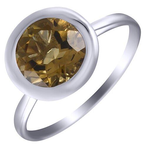 ELEMENT47 Кольцо из серебра 925 пробы с кварцем GRE3122_KO_QZ_002_WG, размер 16.5