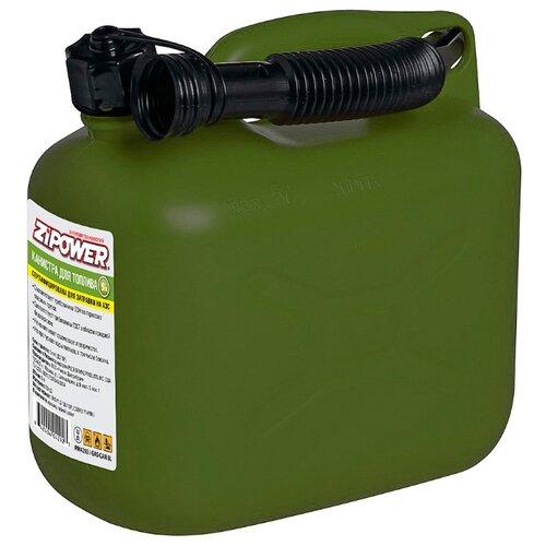 Канистра ZiPOWER PM4292, 5 л, зеленый канистра для топлива zipower pm4294