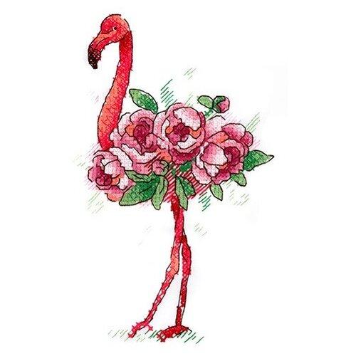 Купить Набор для вышивания крестом на одежде Жар-Птица Фламинго , 15x9 см, арт. В-254, Жар-птица, Наборы для вышивания