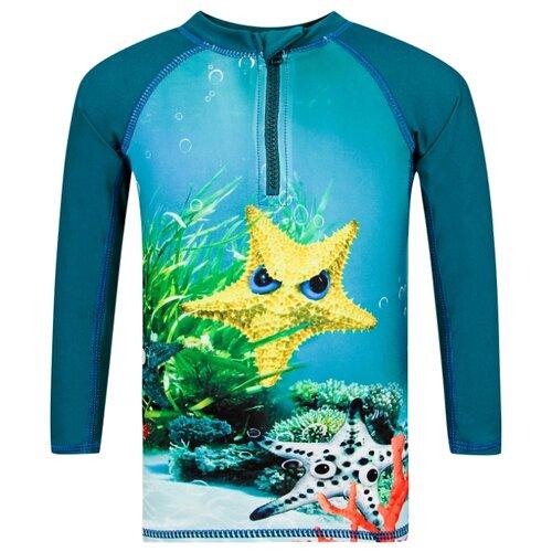 Купить Пляжная футболка Molo размер 74-80, синий/оранжевый/желтый/зеленый, Белье
