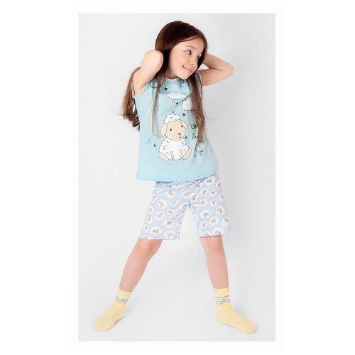 Купить Пижама RICH LINE размер 134, голубой, Домашняя одежда