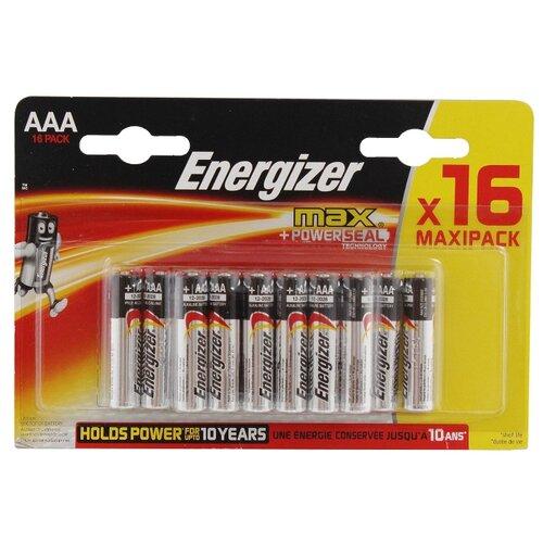 Батарейка Energizer Max AAA/LR03 16 шт блистер батарейка energizer max power seal aaa lr03 8 шт блистер