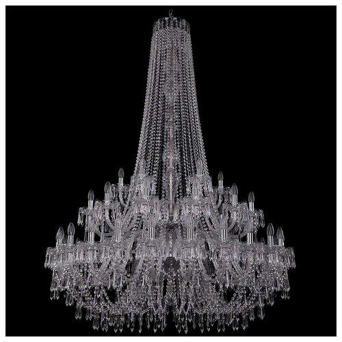 Люстра Bohemia Ivele Crystal 1410 1410/24+12+6/460/h-175/2d/Ni/V0300, E14, 1680 Вт bohemia ivele crystal 1410 6 160 ni v0300 sh2