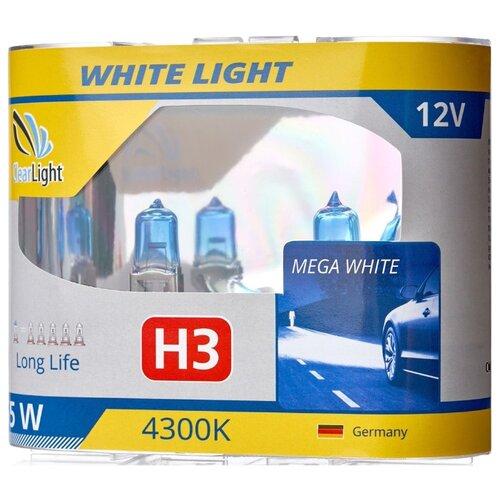 цена на Лампа автомобильная галогенная ClearLight WhiteLight MLH3WL H3 55W 2 шт.