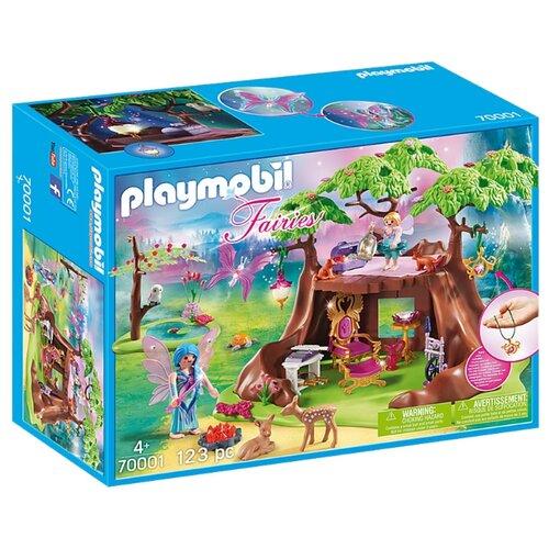 Купить Набор с элементами конструктора Playmobil Fairies 70001 Сказочный лесной дом, Конструкторы