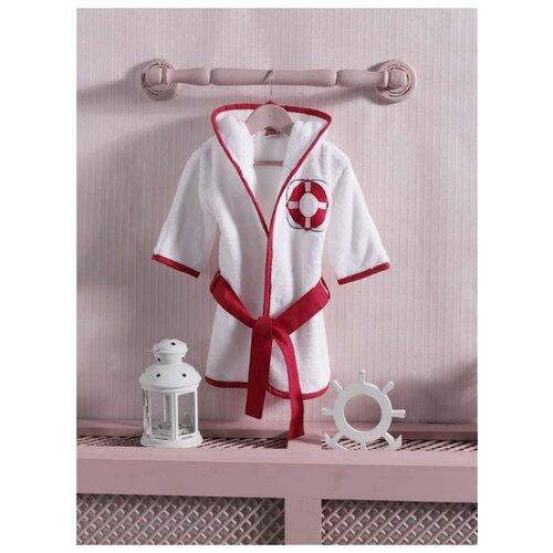 Халат Kidboo размер 3(98), белый/красный