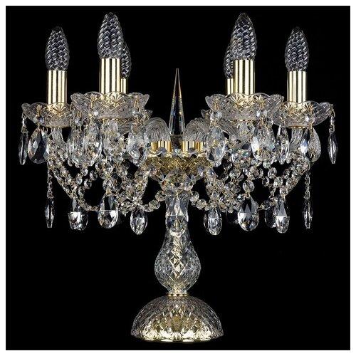 Лампа декоративная Bohemia Art Classic 12.21.6.141-37.Gd.Sp, E14, 240 Вт, цвет арматуры: золотой, цвет плафона/абажура: бесцветный