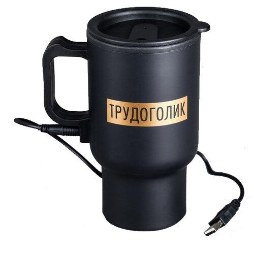 Термокружка Komandor Трудоголик 4503236, 0.45 л черный