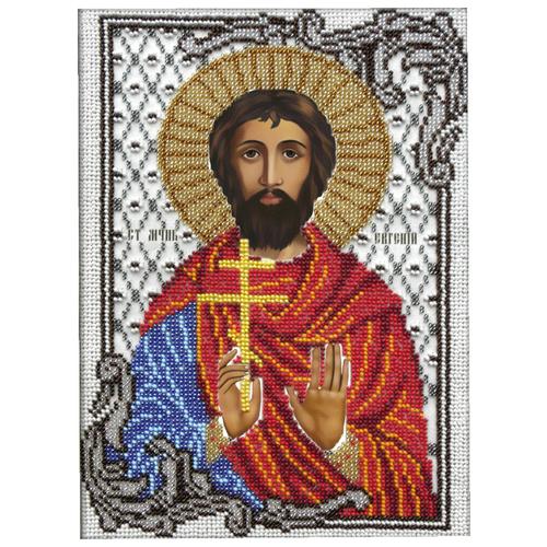 Купить Вышиваем бисером Набор для вышивания бисером Святой Евгений 19 х 26 см (L-99), Наборы для вышивания