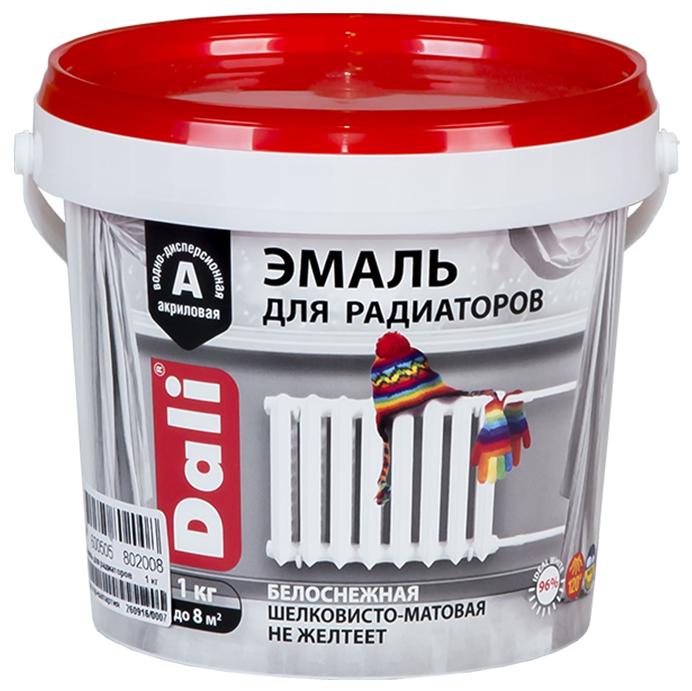 Эмаль Dali для радиаторов акриловая 1 кг белоснежная, 6 штук