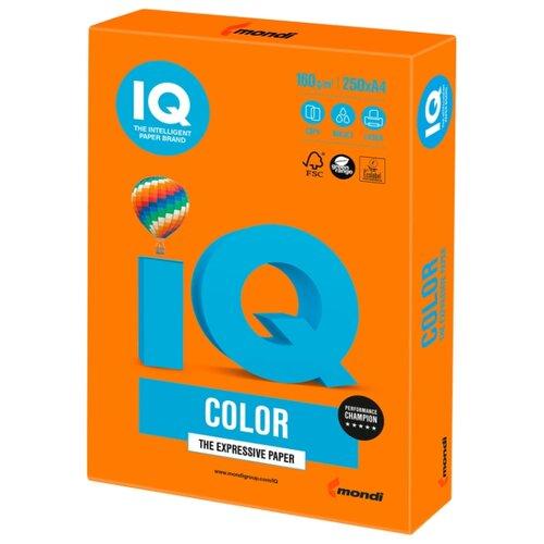 Фото - Бумага IQ Color А4 160 г/м² 250 лист. оранжевый OR43 1 шт. бумага iq color а4 160 г м² 250 лист розовый pi25 5 шт