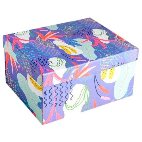 Коробка подарочная Дарите счастье Flowers (4757486) 31.2 х 16.1 х 25.6 см разноцветный недорого