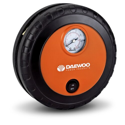 Автомобильный компрессор Daewoo Power Products DW25 оранжевый/черный автомобильный пылесос daewoo power products davc 100