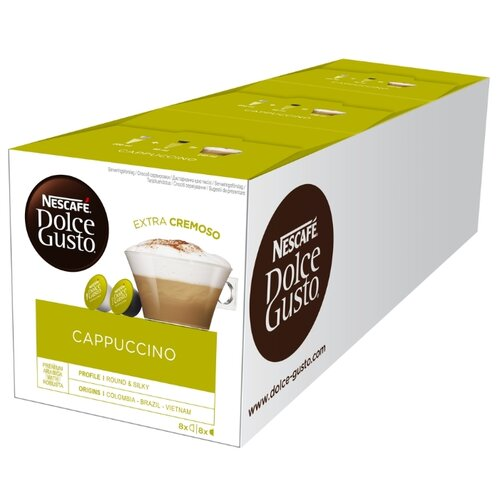 Кофе в капсулах Nescafe Dolce Gusto Cappuccino 24 порции (48 капс.), без кофеина кофе в капсулах nescafe dolce gusto mexico americano 12 капс
