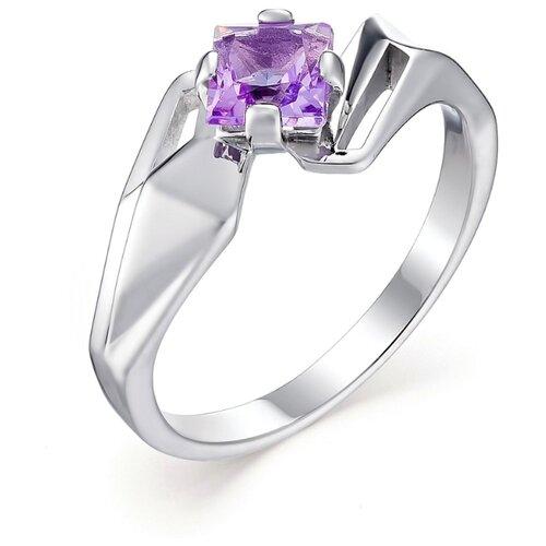 АЛЬКОР Кольцо с 1 аметистом из серебра 01-0577-00АМ-00, размер 17 алькор кольцо с 1 аметистом из серебра 01 0578 00ам 00 размер 17 5