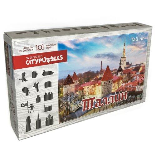 Фото - Фигурный деревянный пазл Citypuzzles Таллин пазлы нескучные игры деревянный пазл citypuzzles лондон