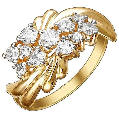 Эстет Кольцо с 11 фианитами из красного золота 01К1112205Р, размер 17.5