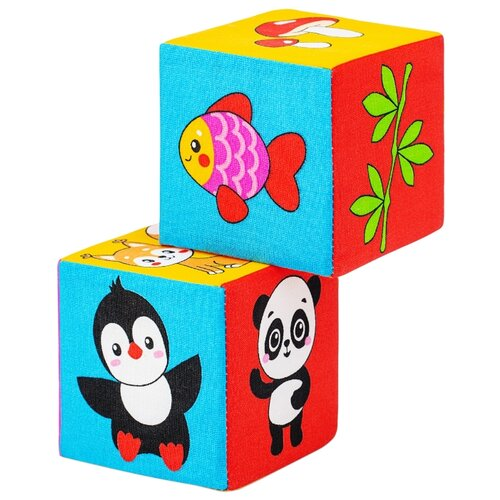 Купить Кубики-пазлы Мякиши Кто что ест, Детские кубики