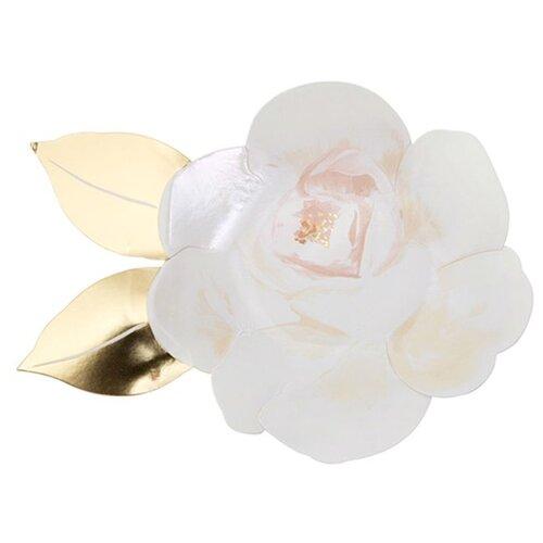Тарелки Белая роза Meri Meri стаканы пастельные высокие meri meri