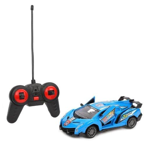 Купить Гоночная машина XDOF 869-24S 1:24 18 см синий, Радиоуправляемые игрушки