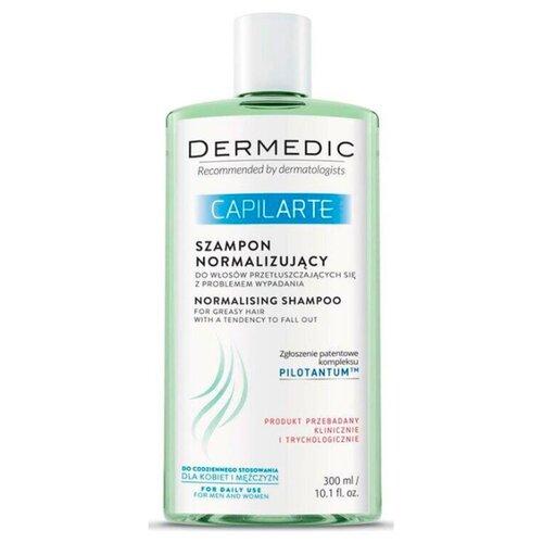 Dermedic шампунь Capilarte для жирных волос против выпадения волос, 300 мл ducray неоптид лосьон от выпадения волос для мужчин 100 мл