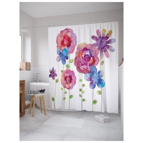 Штора для ванной JoyArty Цветы могут присниться 180х200 (sc-16274) разноцветный