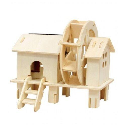 Купить 3D деревянный пазл Robotime Солнечные механизмы Водяная мельница, Сборные модели