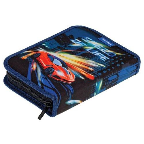 Купить Berlingo Пенал Speed (PK05947) черный/синий, Пеналы