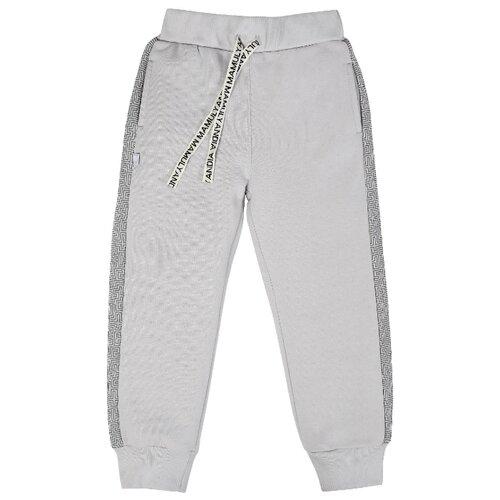 Брюки Мамуляндия 20-132 размер 86, серый брюки для девочки мамуляндия прогулка по облакам цвет розовый 17 1407 размер 86