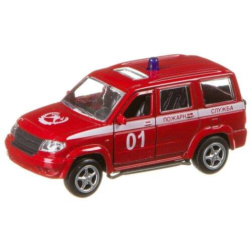 Внедорожник Play Smart УАЗ Патриот 3163 Пожарная служба (6403-F) 1:50 красный