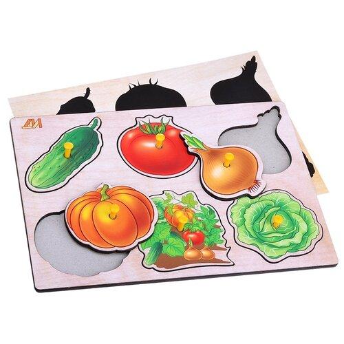 Пазл-вкладыш Деревянные игрушки Овощи (ДИ105)