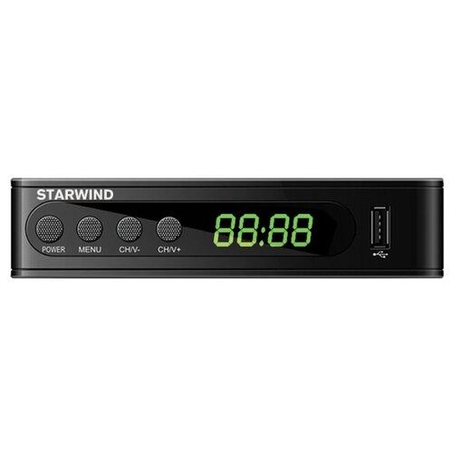 Ресивер DVB-T2 Starwind CT-200 черный tv тюнер starwind ct 200 черный